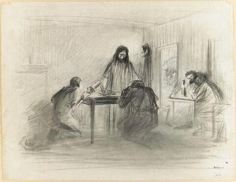 Le Christ et les disciples d'Emmaüs
