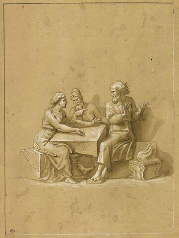 Fragment gauche d'Esther et Assuérus
