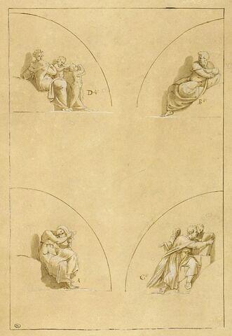 Quatre petites figures