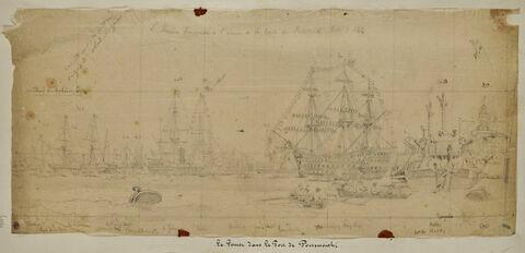 Le Gomer dans le port de Portsmouth