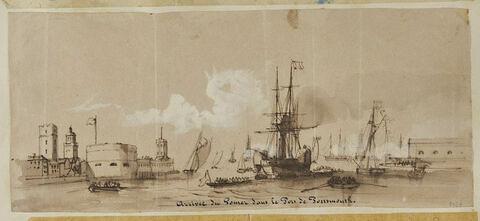 Arrivée du Gomer dans le port de Portsmouth
