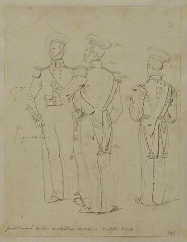 Trois musiciens du 3ème régiment de la garde écossaise