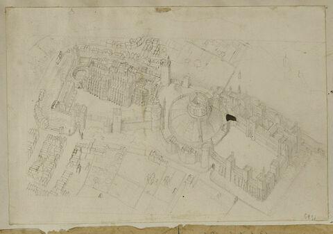 Vue cavalière du château de Windsor