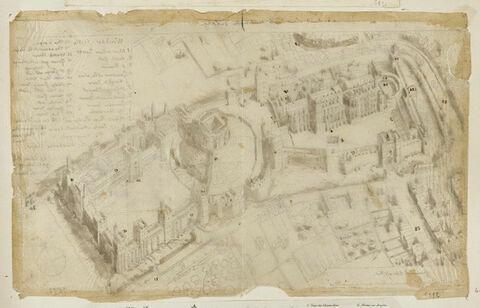 Plan en relief du château de Windsor en 1672