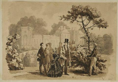 Visite de Louis-Philippe à la Maison d'Orléans de Twickenham