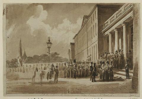 S.A.R. Le prince de Montpensier visite l'arsenal de Woolwich