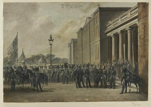 S.A.R. le duc de Montpensier à l'arsenal de Woolwich