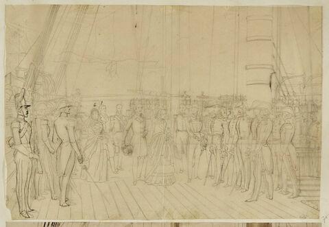 Adieux de la reine Victoria à la marine française