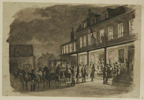 Réunion du roi et de la reine des français Marie-Amélie, à Bernay