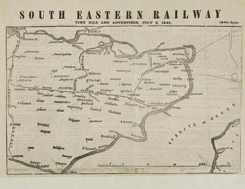 Carte : itinéraire du voyage du roi vers Londres