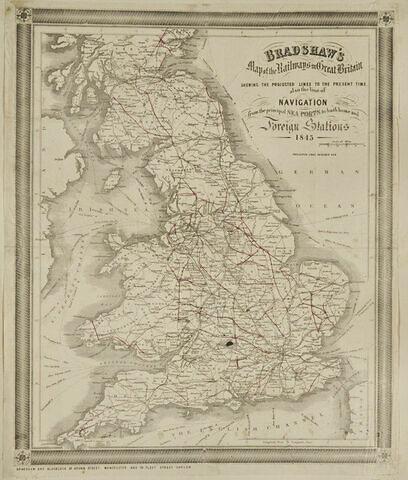 Carte du chemin de fer de la Grande-Bretagne