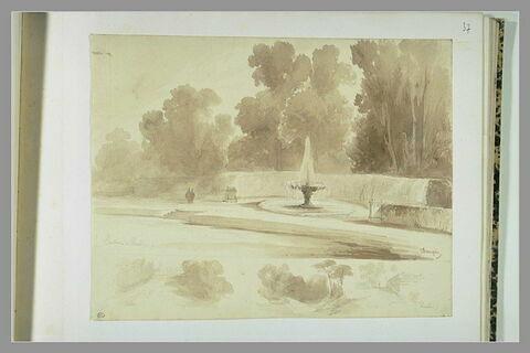 Trois études du château de Vaux-le-Vicomte