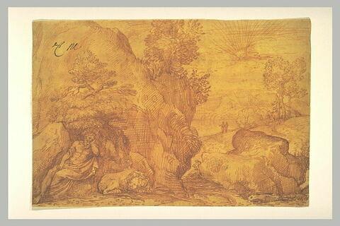 Paysage avec saint Jérôme endormi