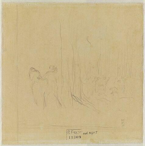 La famille du Petit Poucet dans un bois