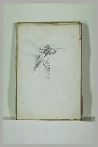 Soldat épaulant son fusil