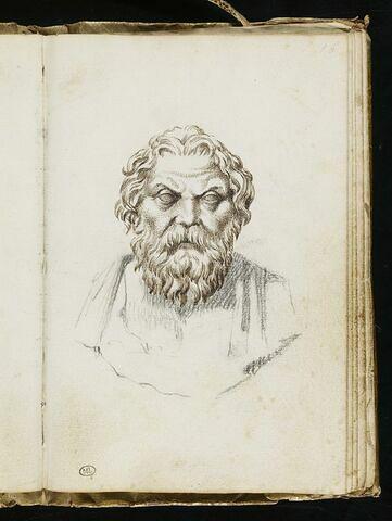 Buste d'Antisthenes de face