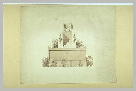 Projet pour le tombeau du général Foy