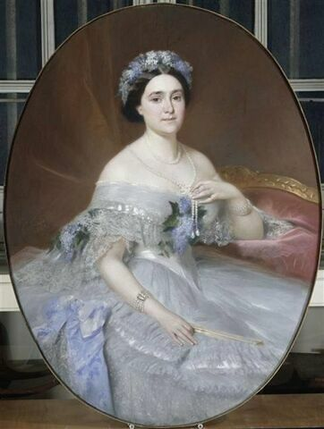 Portrait de la princesse Mathile Napoléon
