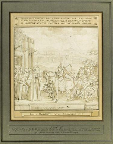 Louis XIII, l'Infante Anne d'Autriche, Marie de Médicis, entrant à Paris