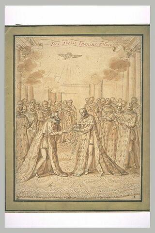 Henri IV converti, recevant les insignes de l'Ordre du Saint-Esprit
