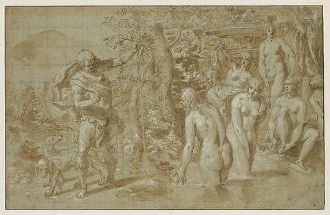 Actéon regarde Diane et ses nymphes se baignant