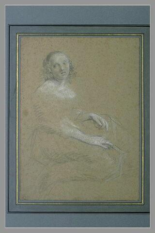 Jeune femme assise, de profil à droite