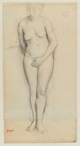 Femme nue, debout, de face