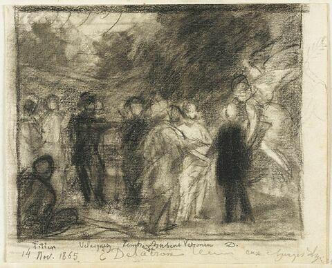 Delacroix reçu aux Champs-Elysées
