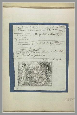 Notes manuscrites ; réunion de femmes
