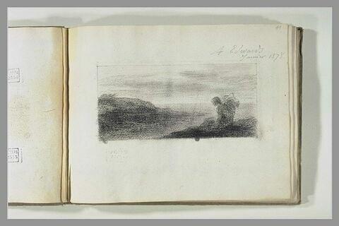 Rêverie : femme assise au bord de la mer