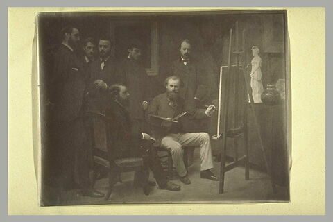 Photographie du tableau 'l'Atelier des Batignolles'