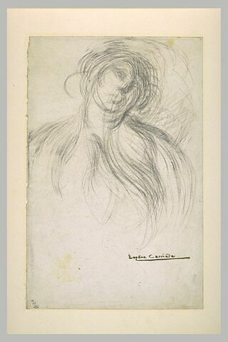Femme en buste, de face