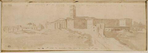 L'église Sainte-Croix-de-Jérusalem, vue de dessus les murs de Saint-Pierre