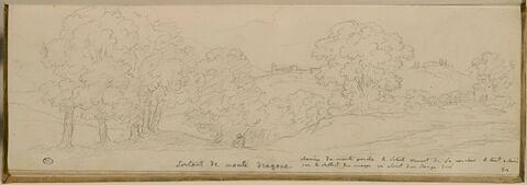 Vue des environs de la villa Mondragone à Frascati