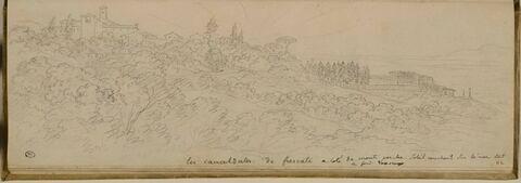 Vue des environs de Monte Porzio Catone