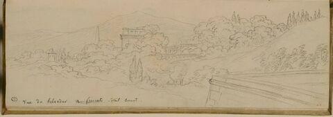 vue de la villa Aldobrandini à Frascati