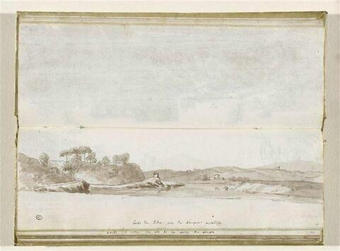 Vue des bords du Tibre, près de l'Aqua Acetoza