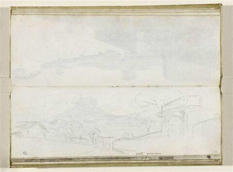 Vue des environs de la Porta Pinciana à Rome