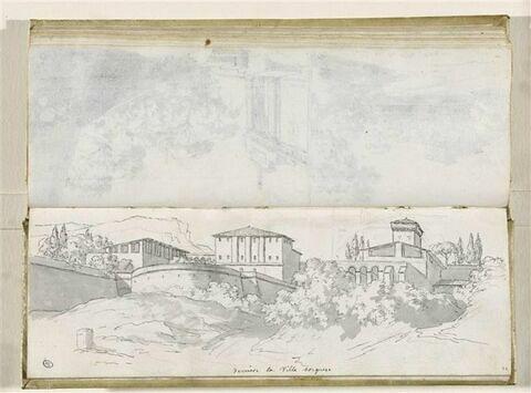 Vue des alentours de la villa Borghèse
