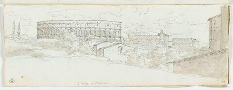 Vue du Colisée et de Saint-Grégoire-le-Grand