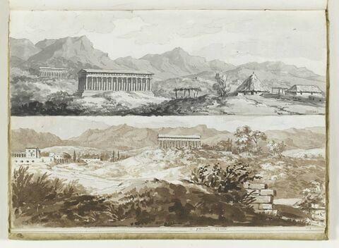 Deux vues de Paestum