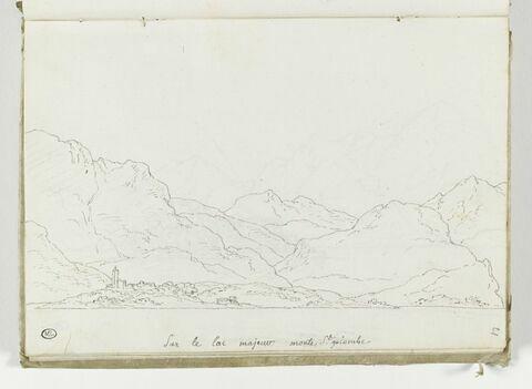 Vue du Simplon exécutée du Lac Majeur