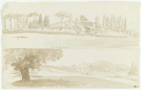 Deux vues de la villa Borghese