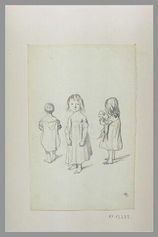 Trois enfants en chemise
