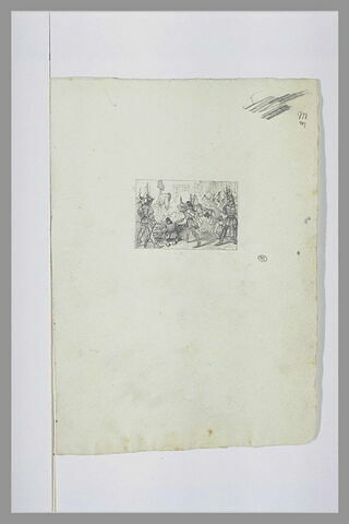 Projet de vignette avec Jeanne d'Arc sur le bûcher