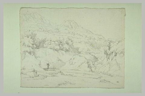 Rivière passant au pied de montagnes