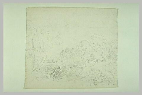 Hercule ou Argus et Mercure dans un paysage