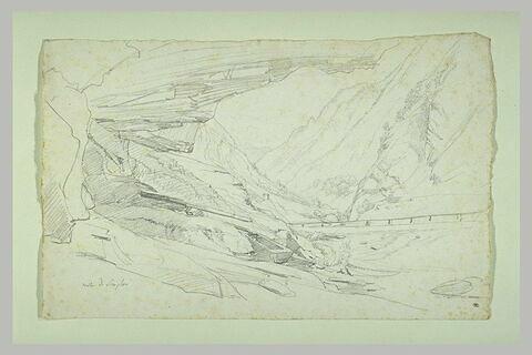Vallée entre des montagnes abruptes