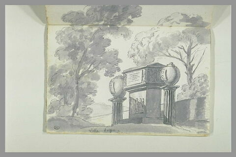 Monuments funéraires dans les jardins de la villa Borghèse