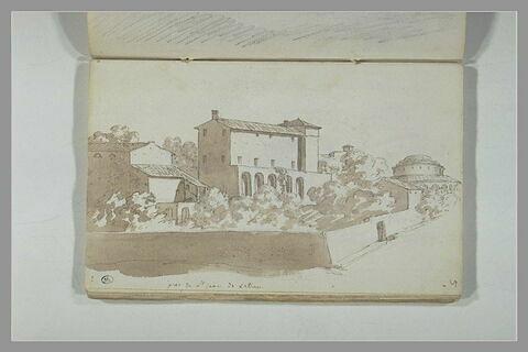 Vue de Rome, aux environs de Saint-Jean-de-Latran